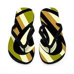 Green, White, Lime, Gold Flip Flops