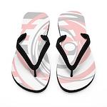 Gray, Pink, White Design Flip Flops