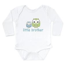 Blue/Green Little Brother Owl Long Sleeve Infant B