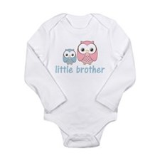 Blue/Pink Little Brother Owls Long Sleeve Infant B