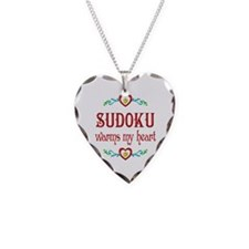 Sudoku Warms My Heart Necklace
