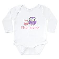Pink/Purple Little Sister Owl Long Sleeve Infant B