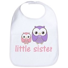 Pink/Purple Little Sister Owl Bib
