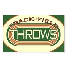 Track and Field Throws Decal