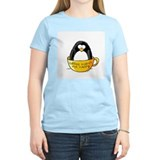 Coffee penguin Women's Pink T-Shirt