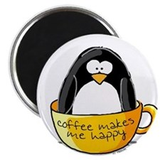 Coffee penguin Magnet