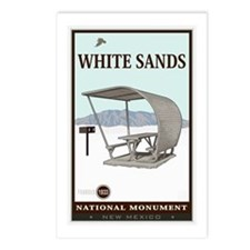 National Parks - White Sands 4 Postcards (Package