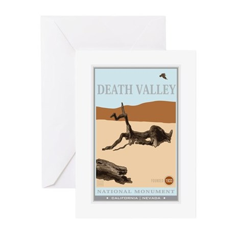 National Parks - Death Valley 4 Greeting Cards (Pk