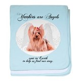 Angel Yorkie baby blanket