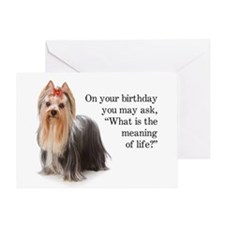 Funny Yorkie Birthday Card