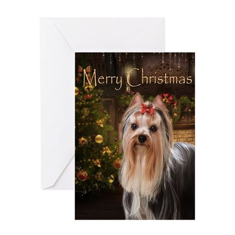 Holiday Yorkie Card