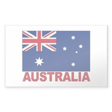 Australia Flag Rectangle Decal