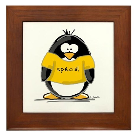 Special penguin Framed Tile