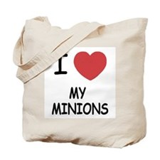 I heart my minions Tote Bag
