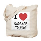 I heart garbage trucks Tote Bag