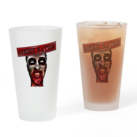 ZOMBIE NATION I LOVE ZOMBIES - Beer Drinking Glass