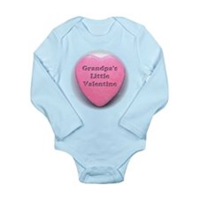 Grandpa's Little Valentine Gi Long Sleeve Infant B