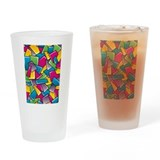 Street Squares Drinking Glass