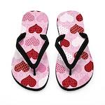 Valentine Hearts Flip Flops