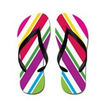 Bright Stripes Flip Flops
