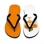 Orange Cheerleader Flip Flops