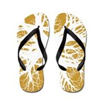 Gold and White Nervy Flip Flops