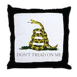 Don't Tread On Me Snake Throw Pillow