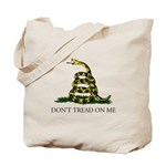 Don't Tread On Me Snake Tote Bag