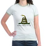 Don't Tread On Me Snake Jr. Ringer T-Shirt
