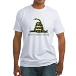 Don't Tread On Me Snake Fitted T-Shirt
