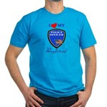 Police Boyfriend Men's Fitted T-Shirt (dark)