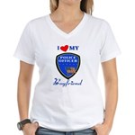 Police Boyfriend Women's V-Neck T-Shirt