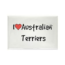 I heart Australian Terriers Rectangle Magnet