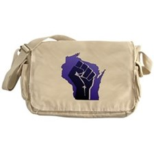 Wisconsin Solidarity Blue Fis Messenger Bag