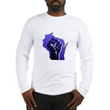 Wisconsin Solidarity Blue Fis Long Sleeve T-Shirt