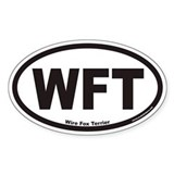 Wire Fox Terrier WFT Euro Oval Bumper Stickers