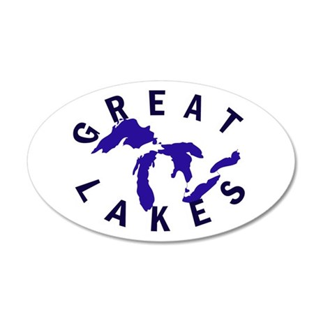Great Lakes shirts, stickers, 22x14 Oval Wall Peel