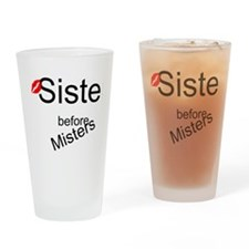 Sisters before Misters Drinking Glass
