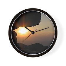 Blue Ridge Mountain Cliff Sunset - Wall Clock