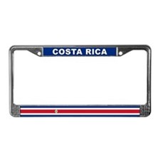 Costa Rica World Flag License Plate Frame