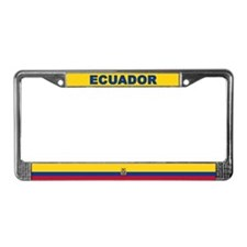 Ecuador World Flag License Plate Frame