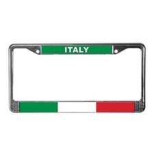 Italy World Flag License Plate Frame