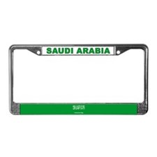 Saudi Arabia World Flag License Plate Frame