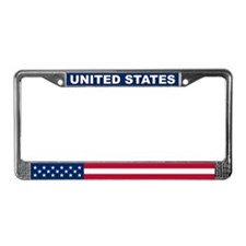 United States World Flag License Plate Frame