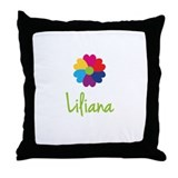 Liliana Valentine Flower Throw Pillow