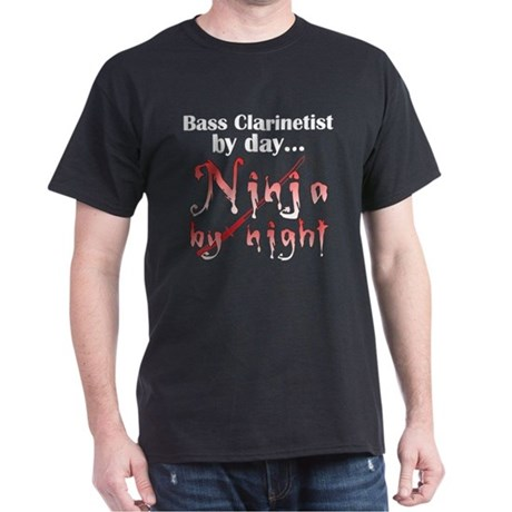 Bass Clarinet Ninja Dark T-Shirt