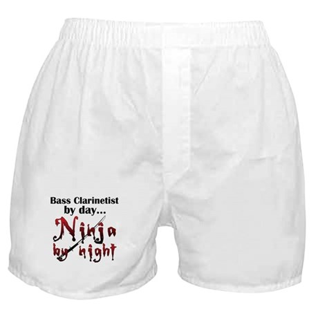 Bass Clarinet Ninja Boxer Shorts