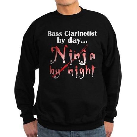 Bass Clarinet Ninja Sweatshirt (dark)