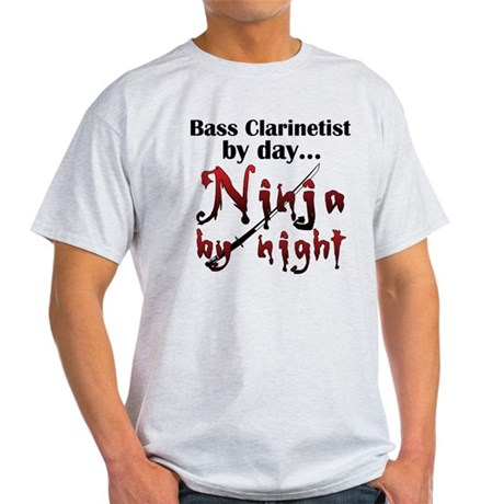 Bass Clarinet Ninja Light T-Shirt