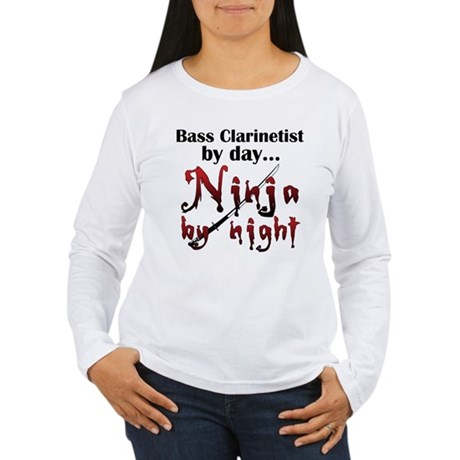 Bass Clarinet Ninja Women's Long Sleeve T-Shirt